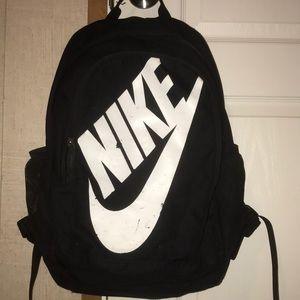 black&white NIKE backpack